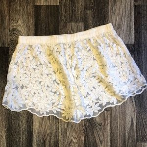 Free People Sheer Lace Shorts